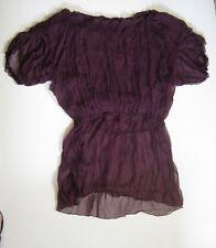 *Lip Service Designer Rokara Oversized Off Shoulder Burgundy Silk Dress M L XL