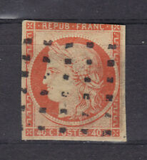 1850 CERES N°5  40 CT  Orange GROS POINTS Côte côte  côte 525€