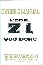1973 KAWASAKI 900 Z1  OWNER'S MANUAL