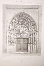 Portail centrale de la cathérale de Notre Dame de Senlis 19°eme
