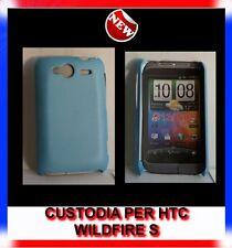 Custodia COVER+Pellicola BACK COVER AZZURRA per HTC WILDFIRE S G13