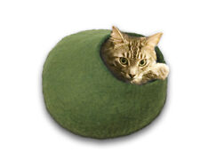 Walking Palm Cat Cave Bed - Large - Green Free Shipping from Usa