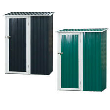 More details for 186x143cm corrugated steel garden shed outdoor equipment storage sloped roof