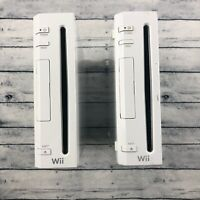 Lot of 2 Nintendo Wii Console Model RVL - 001 and RVL - 001 for Parts or Repair