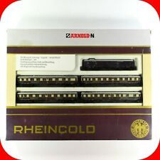 N Scale RHEINGOLD German Railroad Lighted Passenger Car 5-Pack Set - ARNOLD 0143