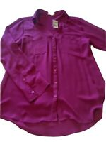 New Women's Womens Size Medium M Express Tunic Long Sleeve Shirt Top Blouse