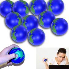 World Stress Ball - Globe Stress Relief Activity Balls 12 Pack | Squeeze Ball