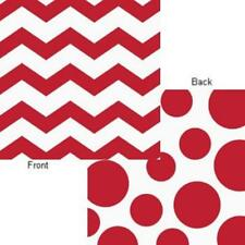 Chevron Polka Dots Classic Red Modern Party Supplies Paper Luncheon Napkins