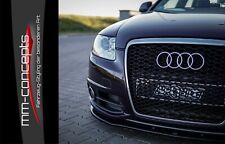 Cup Spoilerlippe für Audi A6 4F C6 S-Line S6 FL Frontspoiler Spoilerschwert ABS