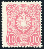 DR 1880, MiNr. 41 I ab, tadellos postfrisch, gepr. Zenker, Mi. 80,-