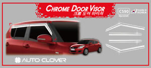 Chrome Weather shields Window Visors 4p for 01/2011 - 04/2017 Suzuki Swift
