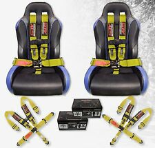 "2x STV Motorsports Racing Safety Seat Belt Harness 5 Point 3"" CanAm Truck YELLOW"