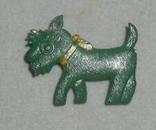 Vintage Child's Tin Metal Scootie Dog Pin Brooch