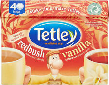 TETLEY REDBUSH & VANILLA TEA 40 TEA BAGS