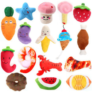 16pcs Squeaky Plush Vocal Dog Toy Durable Pet Puppy Chew Toy Set for Dogs Cats