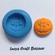 Silicona Molde Tallado Calabaza Halloween Tenebroso Sugarcraft Cupcake Topper Sculpey