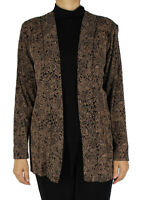 Women's Slinky Long Sleeve Cardigan Top for Casual and Travel Wear Made In USA