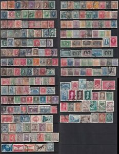 Argentina Stamps 1860s-1900s 4 pages of mint and used stamps