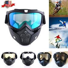 Motorcycle Goggles Face Mask Glasses Full Flexible Sun Riding Ski Snow Dirt Bike