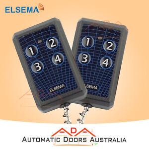 2 x KEY304 ELSEMA GARAGE REMOTES - ELSEMA FMR SERIES TRANSMITTER-10 DIP SWITCHES