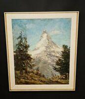 Das Matterhorn Schweiz TOP alpinismus original Ölgemälde signiert J. CLAßEN