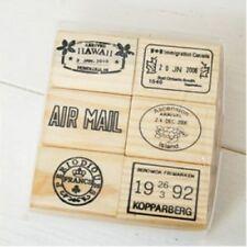 Bois Tampon en caoutchouc set-voyage vacances airmail livraison