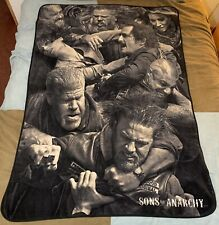 2014 Sons of Anarchy Fleece Throw Blanket 40 x 60 Great Condition 100% Polyester