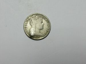 Old Colombia Coin - 1921 5 Centavos - Circulated, dent, spots