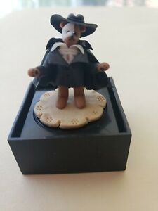 """PHANTOM OF THE OPERA 1""""FIMO CLAY MINIATURE BEAR BY MARTIE RETIRED BOXED"""