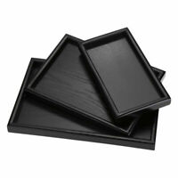 Rectangle Shape Wood Tea Coffee Snack Food Meals Serving Tray Plate Restaurant M