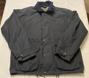 Vtg CC Filson Oil Cloth Field Mens Navy Jacket Medium