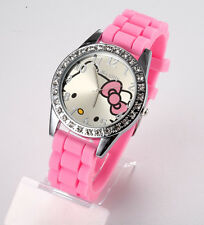 Reloj HELLO KITTY watch con eslabones brillantes Precioso A1231