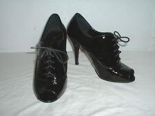 Women's Aldo Black Patent Leather Stiletto Heel Booties Shoes 35 EUR/ 4.5-5 US