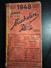 Guide Michelin France 1948 complet dans son jus - 63 ans d'âge!!!