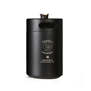 Mini Stainless Steel Growler Ss Keg 5l 304 Black