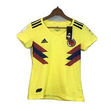 Adidas Colombia Jersey Away Womens Soccer Climachill Small NWT Yellow