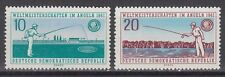 DDR East Germany 1961 ** Mi.841/42 Angeln Fishing