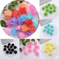 50/100pcs 3.5cm Wedding Decoration Artificial Rose Fake Bouquet Flower Heads