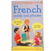 Usborne French Words and Phrases Flashcards to learn french bilingual cards