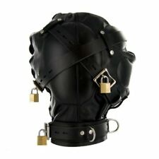 Strict Leather Sensory Deprivation Hood Mask Bondage Small Medium Kinky Adult Di
