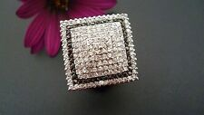 STUNNING,GENUINE 925 SOLID  STERLING SILVER RING MADE IN ITALY SIZE US 8 AU P1/2