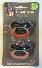 Chicago Bears GLOW IN THE DARK Baby Infant Pacifiers NEW 2 Pack gift