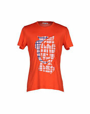"""Bnwt CARVEN """"Vallauris"""" Stampa T-Shirt Rosso-LARGE -"""