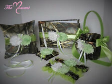 Realtree Max 4 Camo Wedding Set, Celery Green, Camo Wedding, handmade item