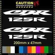 2x Honda CBR 125R Decal Stickers Motorcycle Vinyl Yamaha Suzuki 600RR 1000RR