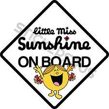 Little Miss Sunshine ON BOARD Car Sticker