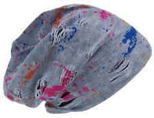 Cool4 Vintage Multicoloured Beanie Offwhite Slouch Mütze VSB34