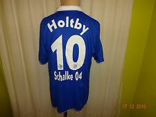 "FC Schalke 04 Original Adidas Heim Trikot 2011/12 ""GAZPROM"" + Nr.10 Holtby Gr.L"