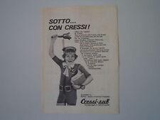 advertising Pubblicità 1973 CRESSISUB CRESSI SUB - GENOVA QUINTO