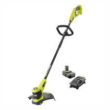 New RYOBI Cordless String Trimmer Edger Tool 18 Volt Battery and Charger